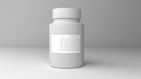 Pill bottle on red background