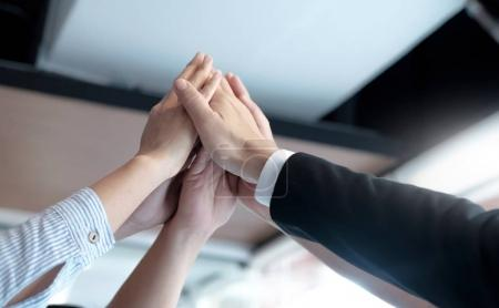 Photo for Hands of success startup business teamwork.Teamwork Togetherness Collaboration Concept. - Royalty Free Image