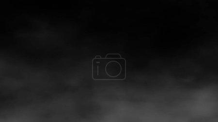 abstrakter Nebel und Rauch auf schwarzem Hintergrund.