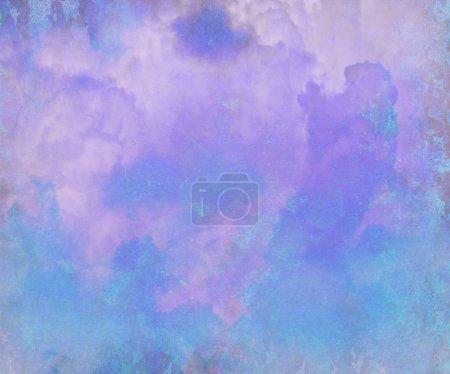 Photo pour Jolie aquarelle bleue abstraite peinture numérique fond - image libre de droit