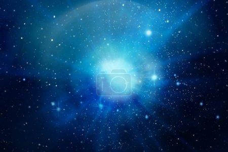 Photo pour Explosion énergétique dans l'espace Illustration - image libre de droit