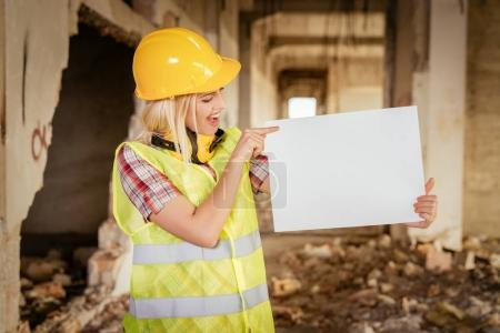 young female construction architects