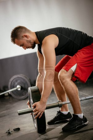 man doing crossfit workout.