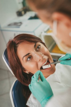Woman At The Dentist office
