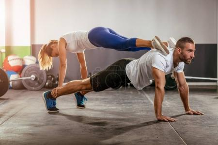 Couple In The Cross Training