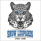 Snow Leopards - vector sport emblem on white