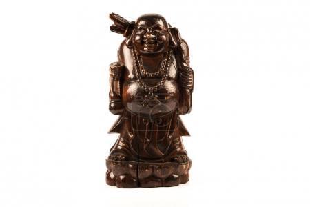 Photo pour Bois sculpté gras représentant Bouddha - image libre de droit