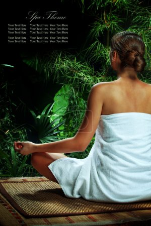 woman in spa environment.