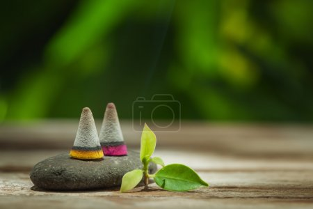 spa theme objects on natural background