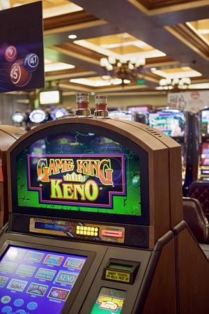 color view of  slot machine  in las vegas casino