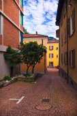 Lugano city street view
