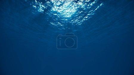 Empty light underwater texture