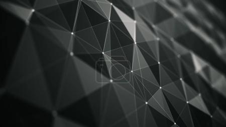 Abstraction geometrical composition with dots line...