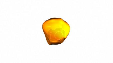 Photo pour Surface ondulée et colorée, métamorphose de sphère amorphe, forme abstraite - image libre de droit