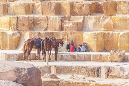 Arabs in the  great pyramids