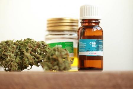 Photo for Cannabis oil cbd hemp - Royalty Free Image