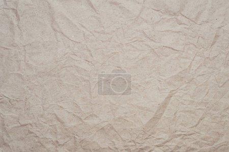 Photo pour Texture abstraite du vieux papier kraft froissé - image libre de droit