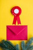 Red christmas envelope and reward