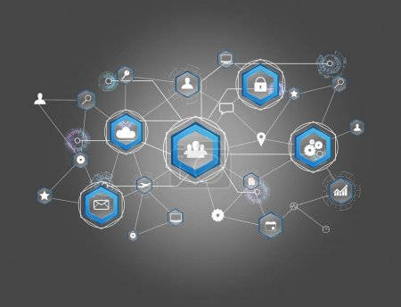 connexion réseau d'affaires affichée