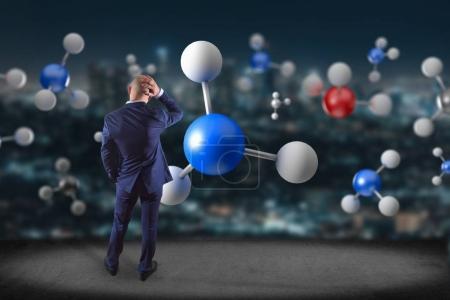 3d rendering molecule