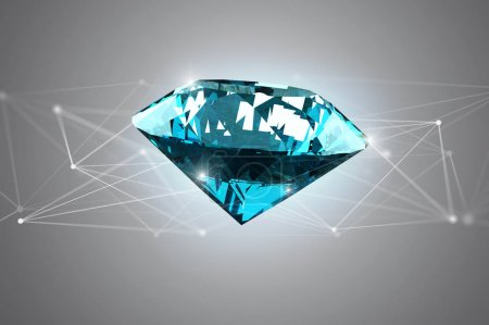 Veiw of Diamond shinning in front of connections