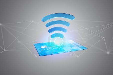 Photo pour Paiement avec le concept de carte de crédit sans contact - image libre de droit