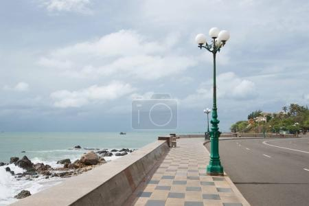 Fragment of the city waterfront in the Nyo mountain region. Vung Tau, Vietnam