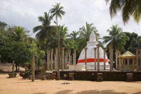 Buddhist temple on the Mango plateau. Mihintale, Sri Lanka