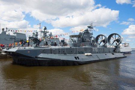 "RUSSIA, SAINT-PETERSBURG - JULY 02, 2017: A small amphibious assault ship ""Evgeny Kocheshkov"" takes part in the International Naval Salon"