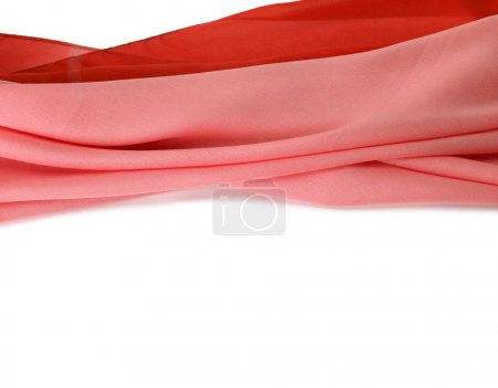 Photo for Red silk fabric background. Isolated. - Royalty Free Image