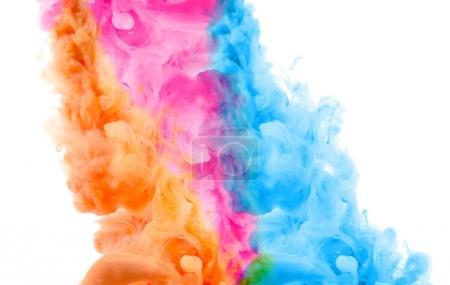 Photo pour Taches colorées. Abstrait. Couleurs acryliques. - image libre de droit