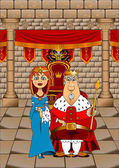 King and Queen in Throne Room