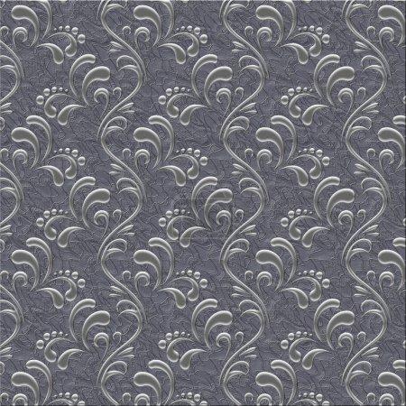 Luxus Silber floralen Hintergrund