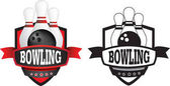 bowling logo or badge shield or branding