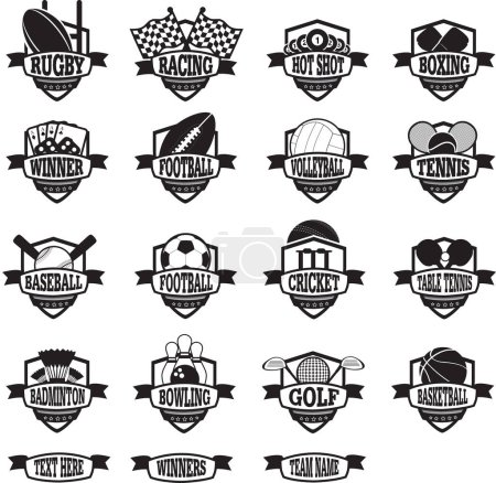 sports teams badges or shields