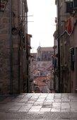 Narrow street inside Dubrovnik old town