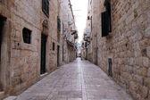 Narrow street in Dubrovnik old town