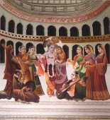 Traditional Indian religious painting in Pushkar, Rajasthan, India.