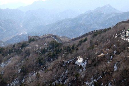 The Great Wall of China in Badaling, China.