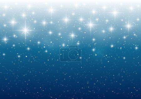 Dark blue starry sky background