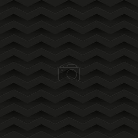 Illustration for Seamless pattern with black relief ornate. vector illustration - Royalty Free Image