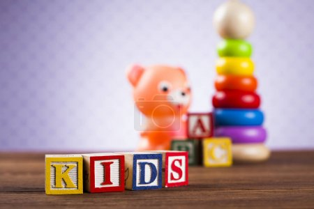 Colorful children toys