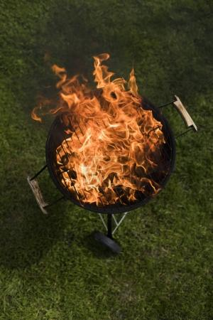 Concept of summer grilling