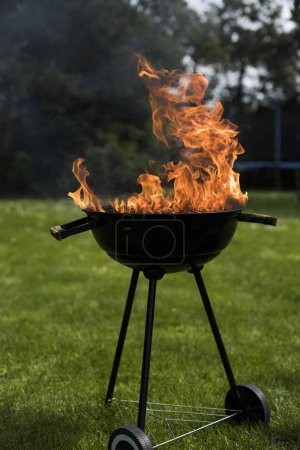 Fire background, grill