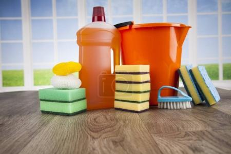 Photo for Group of assorted cleaning products - Royalty Free Image