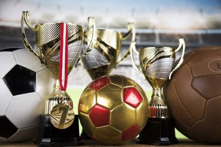 Balls in sport, Trophy and championship concept