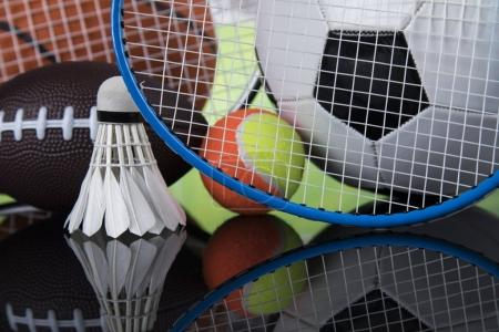 Photo for Balls, Sports Equipment close up, sport background - Royalty Free Image