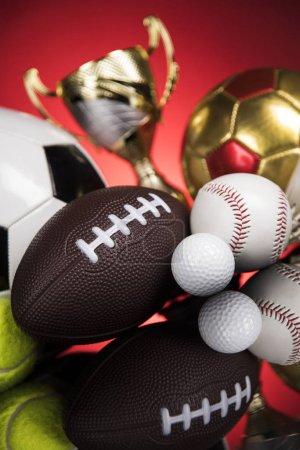 Photo pour Winner podium sports symbols, winning background - image libre de droit