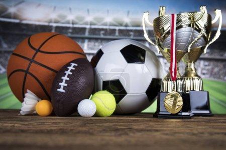 Photo pour Gagnant symboles de sport podium, arrière-plan gagnant - image libre de droit