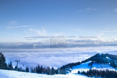 Photo for Winter nature landscape, amazing mountain view - Royalty Free Image
